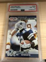 RARE 1990 Pro Set Football #685 Emmitt Smith Dallas Cowboys RC Rookie HOF PSA 8