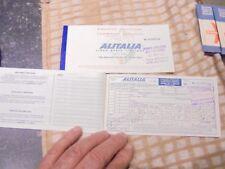 Ancien Billet de Voyage en Avion Passager de la Compagnie Aerienne ALITALIA 1966