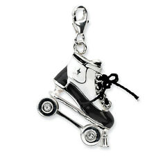 Swarovski Elements Roller Skate Charm Enamel .925 Sterling Silver Amore La Vita