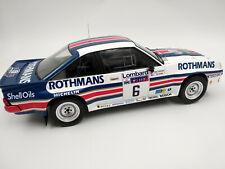 Opel Manta 400 rallye Rac team Rothmans Ari Vatanen échelle 1:18 ,24,5cm neuve