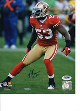 Novarro Bowman San Francisco 49ers Signed 8x10 Photo PSA