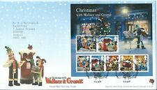 GB FDC Christmas Wallace & Gromit Mini Sheet 2010 Bureau Postmark