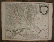 """Orig. grenzkol. Kupferstichkarte von Vangondy """"Südteil europ. Russland"""" 1752 sf"""