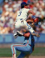 Steve Sax Signed 8X10 Photo Autograph LA Dodgers Double Play Right Auto COA