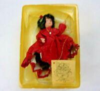 Vintage Kurt S Adler Jocelyn Mostrom Christmas Doll Ornament Girl in Dress 2