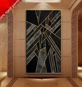 YA1029 Home decor art 100% Hand-painted  Abstract oil painting Geometric figure