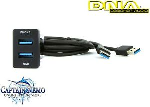 DNA DESIGNER AUDIO USB ADAPTOR LEAD TO SUIT TOYOTA VEHICLES - SMALL TOYUSB03