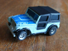 Aurora LIGHTED CJ-7 Jeep, magnatraction chassis, AFX Tyco HO micro Car faller