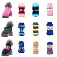 Pet Dog Knitted Warm Sweater Puppy Hoodie Coat Cat Soft Jumper Apparel Clothes
