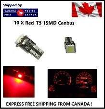 10X T5 Canbus RED Instrument Panel Cluster Dash Led Lights Bulbs 17 73 74