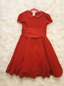 POLO Ralph Lauren Girl's Corduroy Red Dress Size 6 Christmas Holiday Party