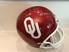 Sam Bradford Signed Oklahoma Sooners Full Size Helmet COA Heisman 08 COA/Holo