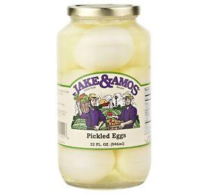 Jake & Amos Pickled Eggs, 32 Oz. Jar (Pack of 2)