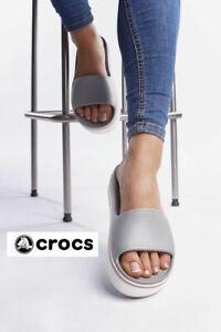 NEW CROCS  Women Sz. 8 Platform Slide Comfortable Sandals Crocband Slip On Shoes