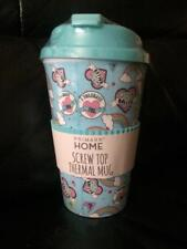 Primark DISNEY Thermal Travel Mug Blue Baller 'I Tolerate You' Screw Top Mug