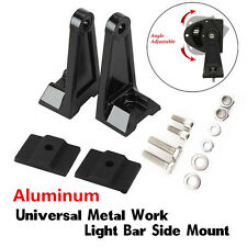 Universal side brackets mount row led work light bar heavy duty diecast aluminium