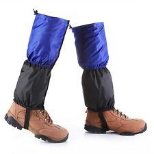 Hiking Climbing Ski Snow Leg Cover Boot Legging Gaiters Ordinary Blue Black #U