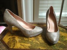 Enzo Angiolini Silver SPARKLY BLING DESIGNER Pumps HEELS PUMPS SIze 7 M
