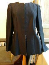 *DRIES VAN NOTEN* black cotton blend jacquard blazer size FR 40 - UK 12 - Medium