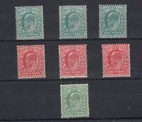 GB KEVII 1902/11 1/2d/1d Collection SG215/216/219/220/267 MNH JK365