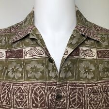 Woolrich Mens Medium Shirt Hawaiian Floral Island Fish Tribal Tropical Cotton M