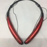 New LG Tone PRO HBS-770 Premium Bluetooth Wireless Earbud Headphone RED