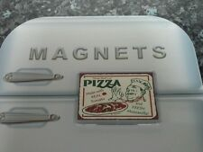 "Pizza Fridge Magnet. Retro Diner Sign. Americana. ""Now-that's-a-Pizza"" Italian"