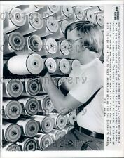 1972 Bobbins of Tire Cord BF Goodrich Textile Plant Thomaston GA Press Photo