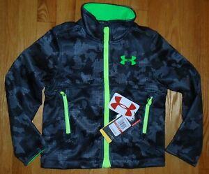 Under Armour Boys Softshell Jacket Black Storm YXS 6 7 NWT $99 Retail