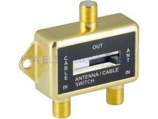 2-way A/B Switch Cable TV Antenna Game Audio/Video Splitter RF Coax Gold Plated