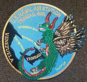 US NAVY Military Patch Naval Air Station Trinidad BWI Trinidad Dragon