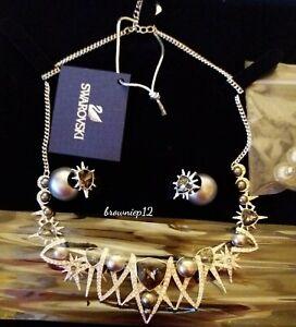 Swarovski Set Necklace & Crystal Pearl Earrings