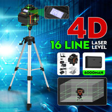 4D 16 Line Green Laser Level Auto Self Leveling 360° Rotary Cross Measuring Tool