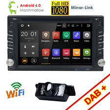 "6.2"" 2DIN Android 6.0 Car Stereo Quad Core WIFI GPS Nav DVD Player Auto Radio US"