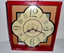 "Country Wall Clock Shabby Rustic Cottage French Farmhouse NIB 12"""