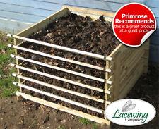 Easy Load Wooden Compost Bin Garden Waste Composting Wood Bins Organic Disposal