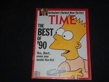 1990 DECEMBER 31 TIME MAGAZINE - THE BEST OF '90, BART SIMPSON - T 2680