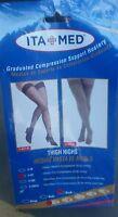 ITA-MED Sheer Compression 23-30 mmHg Thigh High Stockings Varicose Vein Nurse