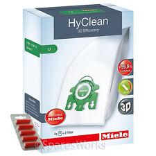 4 x MIELE S7260 S7280 Type U 3D HyClean Vacuum Hoover Bags & Filter Kit + Fresh