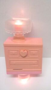 VINTAGE PLAYSKOOL DOLLHOUSE REPLACEMENT DRESSER - MUSIC AND LIGHTS - WORKS!