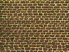Auhagen 50502 1 Dekorpappe unregelmäßiges Mauerwerk lose, 220 x 100 mm ++ NEU