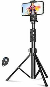 """Phone Tripod 55.9"""" Extendable All in One Bluetooth Selfie Stick DURABLE"""