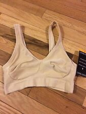 ELLEN TRACY Beige COMFORTBALE WIRE FREE SOFT LINED CUPS BRA MSRP $25 Small