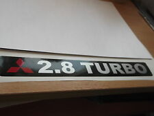 Mitsubishi Shogun / Pajero Replacement tailgate 2.8 TURBO  sticker