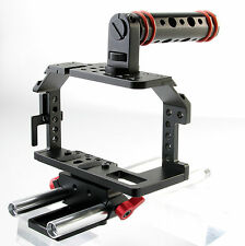 Kamerar Pico Cage für Blackmagic Pocket Camera mit 15mm LWS Rods & Top Handle