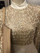 Party Dress. Edge Street Designer. Size 8 Cream/gold Sheer Stunning