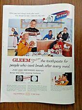 1958 Gleem Toothpaste Ad  Family Theme