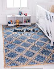 Braided Handmade Natural Hand Woven Bohemian Floor Carpet 3x4 Feet Rectangle Rug