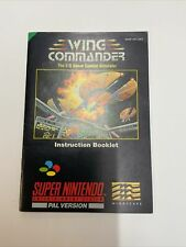 Super Nintendo Snes Wing Commander Instruction Booklet Only Excellent Condition