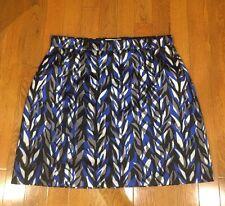 NWT! BALENCIAGA Blue White Black Gray Abstract Print Mini Skirt 42/6-8